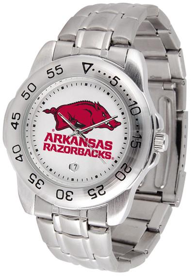 Arkansas Razorbacks Men's Sport Steel Watch | SunTime | ST-CO3-ARR-SPORTM