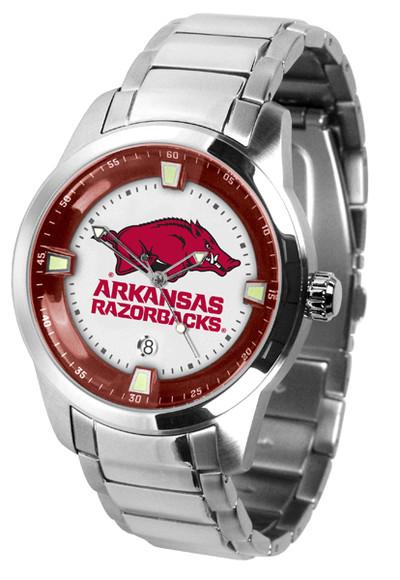 Arkansas Razorbacks Men's Titan Steel Watch | SunTime | ST-CO3-ARR-TITANM