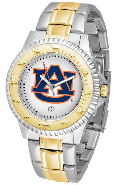 Auburn Tigers Men's Competitor Two-Tone AnoChrome Watch | SunTime | st-co3-aut-compmg-a