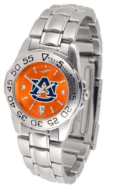 Auburn Tigers Ladies Sport Steel AnoChrome Watch | SunTime | ST-CO3-AUT-SPORTLM-A