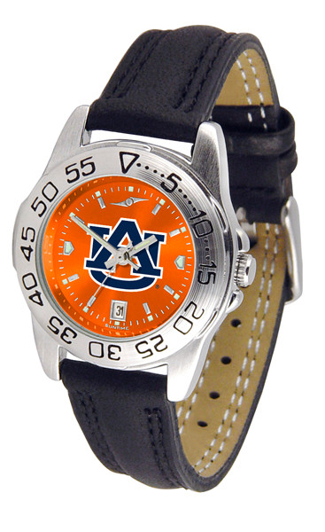 Auburn Tigers Ladies Sport Leather AnoChrome Watch | SunTime | ST-CO3-AUT-SPORTL-A