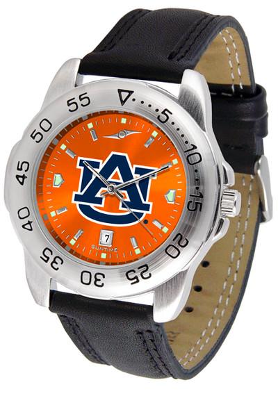 Auburn Tigers Men's Sport Leather AnoChrome Watch | SunTime | ST-CO3-AUT-SPORT2-A