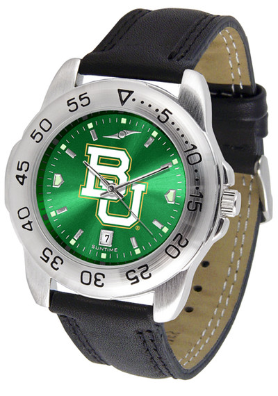 Baylor Bears Men's Sport Leather AnoChrome Watch | SunTime | ST-CO3-BAB-SPORT2-A