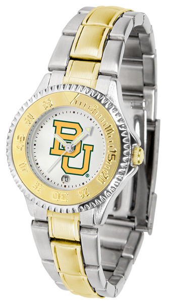 Baylor Bears Ladies Competitor Two-Tone Watch | SunTime | ST-CO3-BAB-COMPLMG