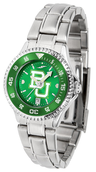 Baylor Bears Ladies Competitor Steel AnoChrome Watch with Color Bezel | SunTime | ST-CO3-BAB-COMPLM-AC
