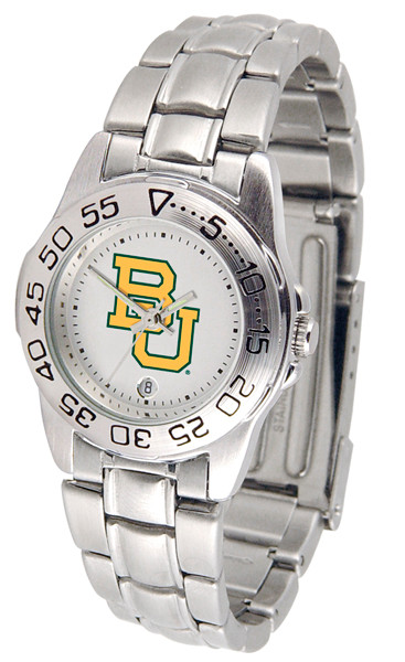 Baylor Bears Ladies Sport Steel Watch | SunTime | ST-CO3-BAB-SPORTLM