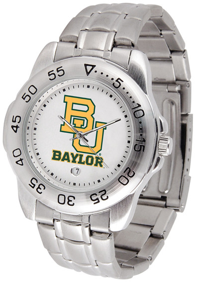 Baylor Bears Men's Sport Steel Watch | SunTime | ST-CO3-BAB-SPORTM