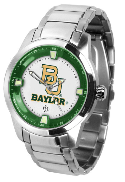 Baylor Bears Men's Titan Steel Watch | SunTime | ST-CO3-BAB-TITANM