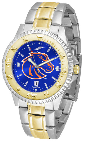 Boise State Broncos Men's Competitor Two-Tone AnoChrome Watch | SunTime | st-co3-bsb-compmg-a