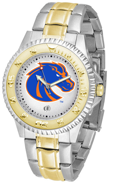 Boise State Broncos Men's Competitor Two-Tone Watch | SunTime | ST-CO3-BSB-COMPMG