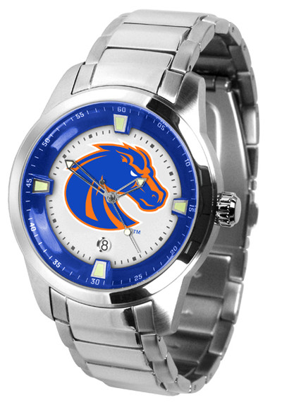 Boise State Broncos Men's Titan Steel Watch | SunTime | ST-CO3-BSB-TITANM