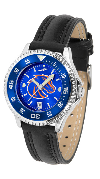 Boise State Broncos Ladies Competitor AnoChrome Watch with Color Bezel | SunTime | ST-CO3-BSB-COMPL-AC