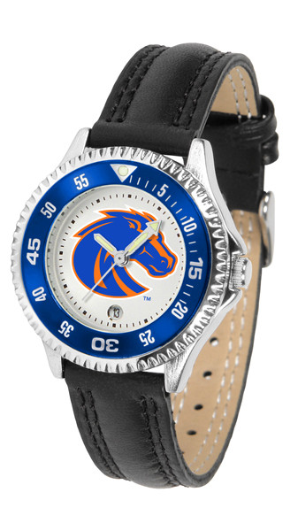 Boise State Broncos Ladies Competitor Sport Leather Watch | SunTime | ST-CO3-BSB-COMPL