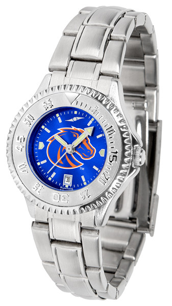 Boise State Broncos Ladies Competitor Steel AnoChrome Watch | SunTime | st-co3-bsb-complm-a
