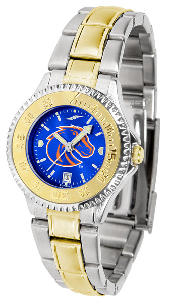 Boise State Broncos Ladies Competitor Two-Tone AnoChrome Watch | SunTime | st-co3-bsb-complmg-a