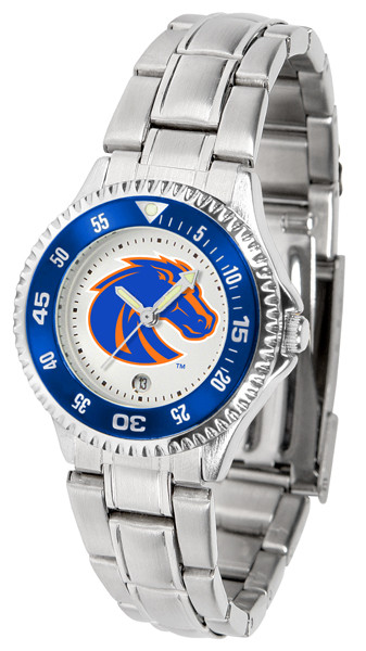 Boise State Broncos Ladies Competitor Steel Watch | SunTime | st-co3-bsb-complm