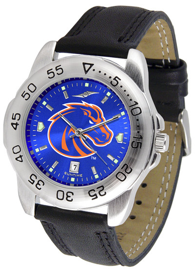 Boise State Broncos Men's Sport Leather AnoChrome Watch | SunTime | ST-CO3-BSB-SPORT2-A