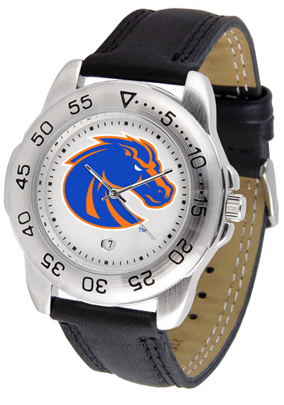 Boise State Broncos Men's Sport Leather Watch | SunTime | ST-CO3-BSB-SPORT2