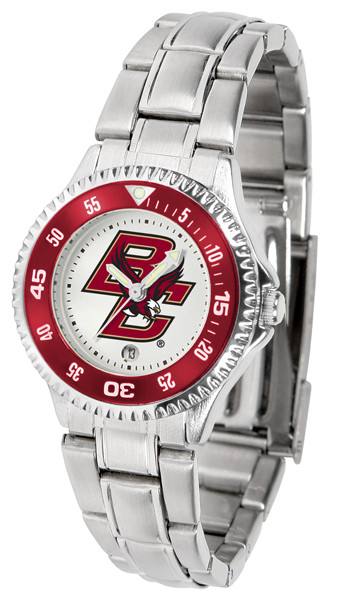 Boston College Eagles Ladies Competitor Steel Watch | SunTime | st-co3-bce-complm