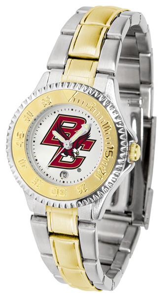Boston College Eagles Ladies Competitor Two Tone Watch | SunTime | SUNST-CO3-BCE-COMPLMG