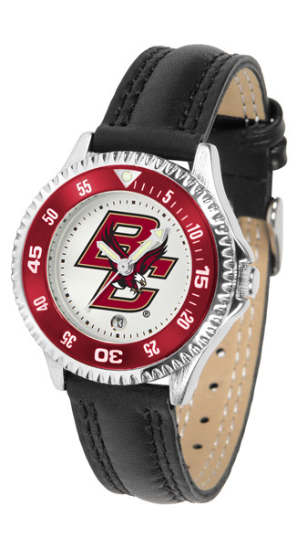 Boston College Eagles Ladies Competitor Sport Leather Watch | SunTime | ST-CO3-BCE-COMPL