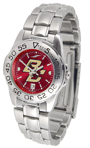 Boston College Eagles Ladies Sport Steel AnoChrome Watch | SunTime | ST-CO3-BCE-SPORTLM-A