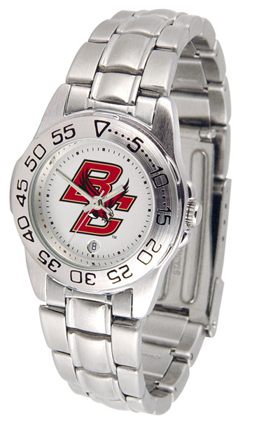 Boston College Eagles Ladies Sport Steel Watch | SunTime | ST-CO3-BCE-SPORTLM