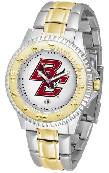 Boston College Eagles Men's Competitor Two-Tone Watch | SunTime | ST-CO3-BCE-COMPMG
