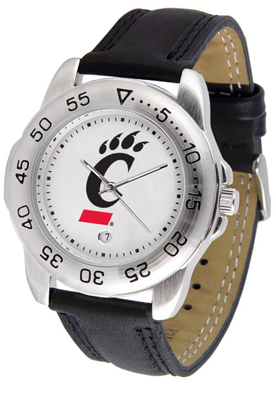 Cincinnati Bearcats Men's Sport Leather Watch | SunTime | ST-CO3-CIB-SPORT2
