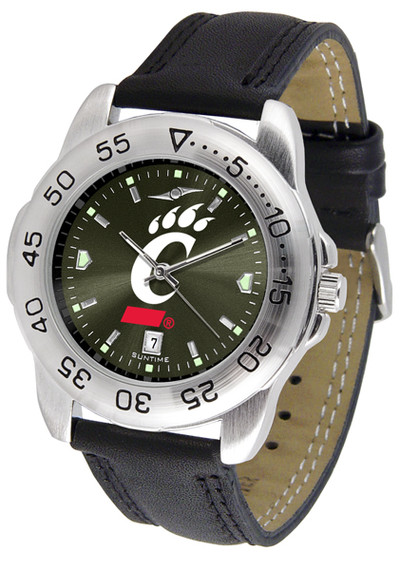 Cincinnati Bearcats Men's Sport Leather AnoChrome Watch | SunTime | ST-CO3-CIB-SPORT2-A