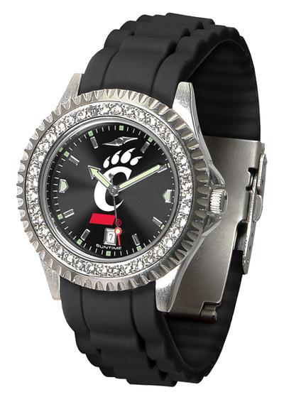 Cincinnati Bearcats Ladies Sparkle Watch | SunTime | ST-CO3-CIB-SPARKLE