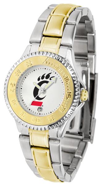 Cincinnati Bearcats Ladies Competitor Two-Tone Watch | SunTime | ST-CO3-CIB-COMPLMG