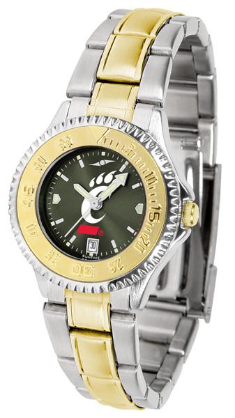 Cincinnati Bearcats Ladies Competitor Two-Tone AnoChrome Watch | SunTime | st-co3-cib-complmg-a
