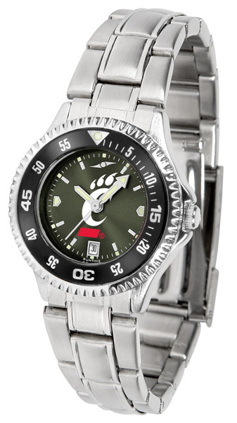 Cincinnati Bearcats Ladies Competitor Steel AnoChrome Watch with Color Bezel | SunTime | ST-CO3-CIB-COMPLM-AC