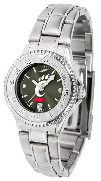 Cincinnati Bearcats Ladies Competitor Steel AnoChrome Watch | SunTime | st-co3-cib-complm-a