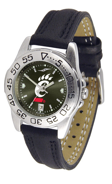 Cincinnati Bearcats Ladies Sport Leather AnoChrome Watch | SunTime | ST-CO3-CIB-SPORTL-A