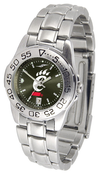 Cincinnati Bearcats Ladies Sport Steel AnoChrome Watch | SunTime | ST-CO3-CIB-SPORTLM-A