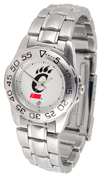 Cincinnati Bearcats Ladies Sport Steel Watch | SunTime | ST-CO3-CIB-SPORTLM