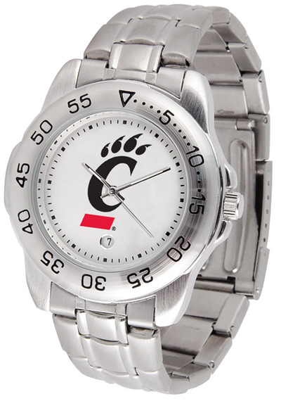 Cincinnati Bearcats Men's Sport Steel Watch | SunTime | ST-CO3-CIB-SPORTM
