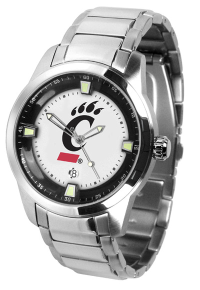 Cincinnati Bearcats Men's Titan Steel Watch | SunTime | ST-CO3-CIB-TITANM