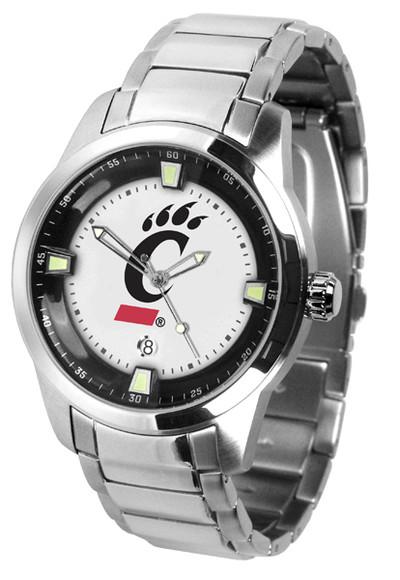 Cincinnati Bearcats Men's Titan Steel Watch | SunTime | ST-CO3-CIB-TITANM