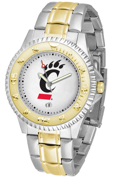 Cincinnati Bearcats Men's Competitor Two-Tone Watch | SunTime | ST-CO3-CIB-COMPMG