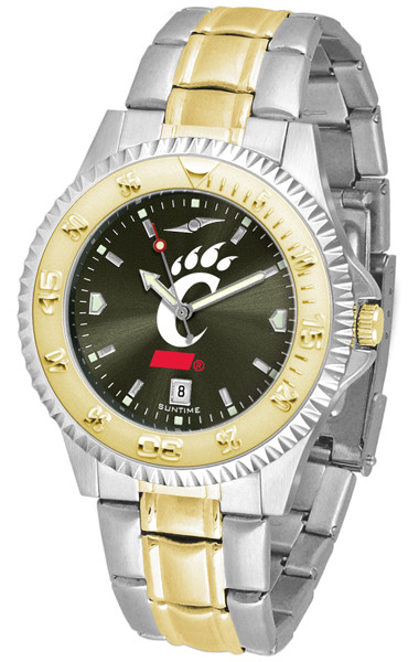 Cincinnati Bearcats Men's Competitor Two-Tone AnoChrome Watch | SunTime | st-co3-cib-compmg-a