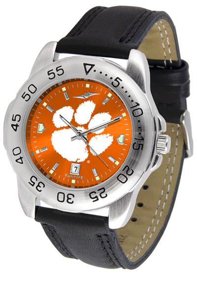 Clemson Tigers Men's Sport Leather AnoChrome Watch | SunTime | ST-CO3-CLT-SPORT2-A
