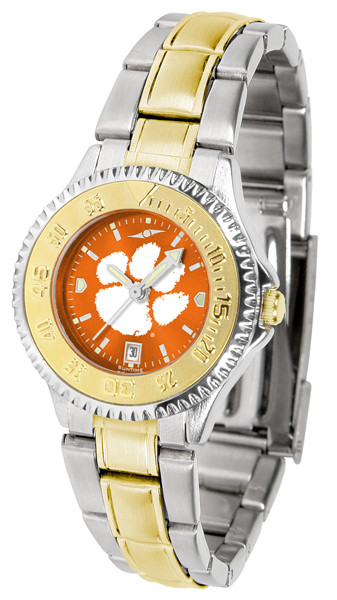 Clemson Tigers Ladies Competitor Two-Tone AnoChrome Watch | SunTime | st-co3-clt-complmg-a