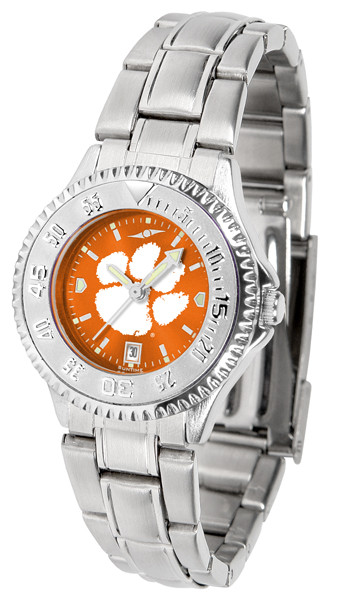 Clemson Tigers Ladies Competitor Steel AnoChrome Watch | SunTime | st-co3-clt-complm-a