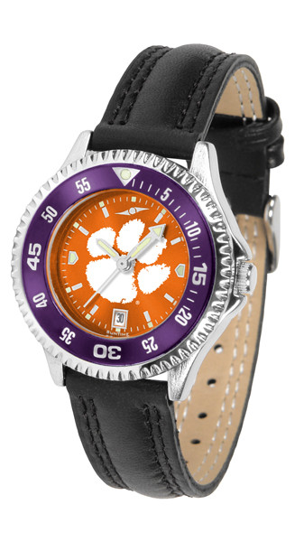 Clemson Tigers Ladies Competitor AnoChrome Watch with Color Bezel | SunTime | ST-CO3-CLT-COMPL-AC