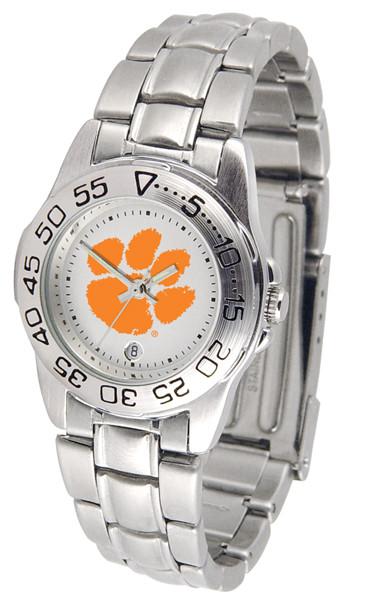 Clemson Tigers Ladies Sport Steel Watch | SunTime | ST-CO3-CLT-SPORTLM