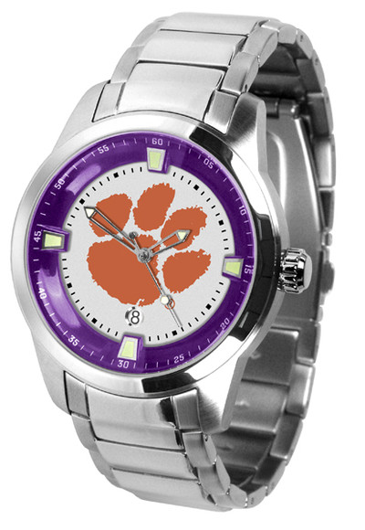 Clemson Tigers Men's Titan Steel Watch | SunTime | ST-CO3-CLT-TITANM