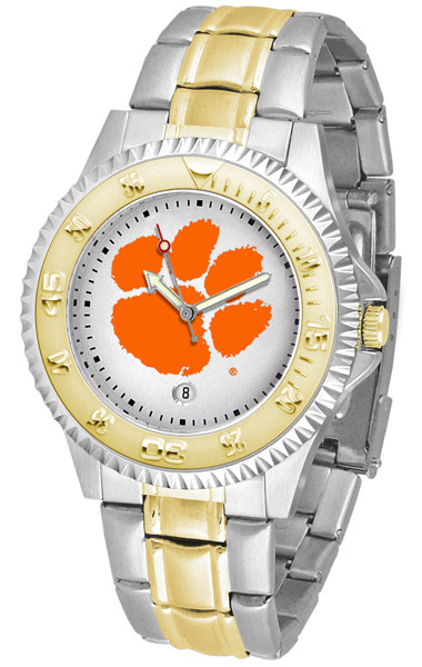 Clemson Tigers Men's Competitor Two-Tone Watch | SunTime | ST-CO3-CLT-COMPMG